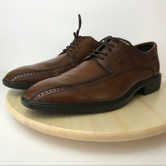 Ecco Shoes Mens Oxford Dress Shoe Brown Leather 44 Poshmark